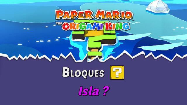TODOS los bloques ? en Isla ? de Paper Mario The Origami King