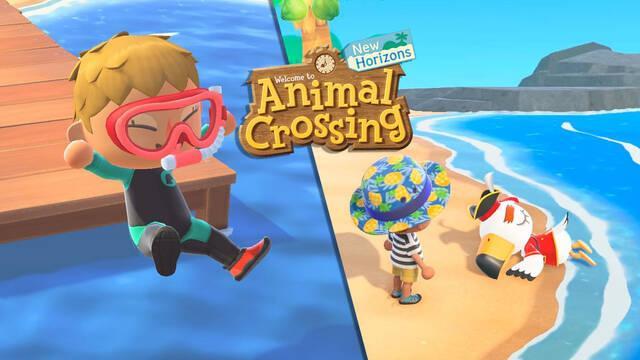 Animal Crossing NH: Ya se puede nadar con la actualización 1.3.0 de verano