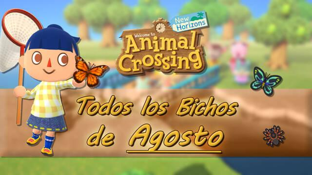 Bichos disponibles en Agosto 2020 en Animal Crossing: New Horizons