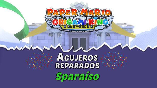 TODOS los agujeros en Sparaíso de Paper Mario The Origami King