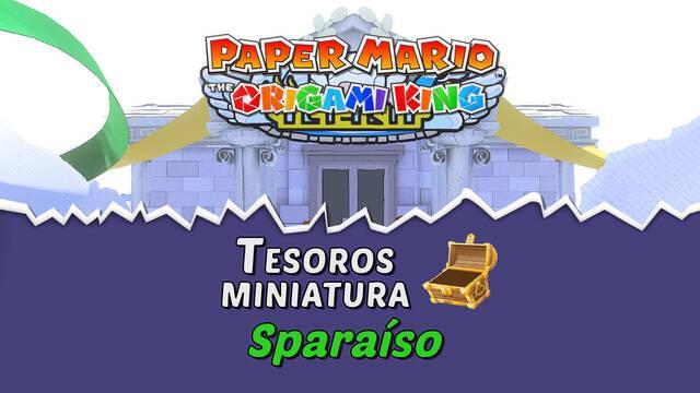 TODOS los tesoros en Sparaíso de Paper Mario The Origami King