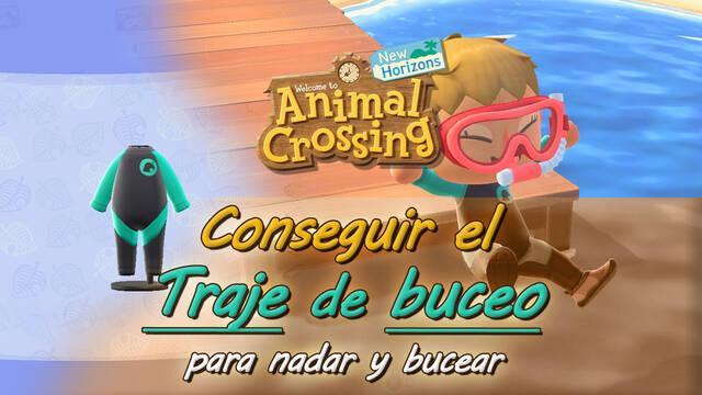Conseguir el traje de buceo para nadar en Animal Crossing: New Horizons