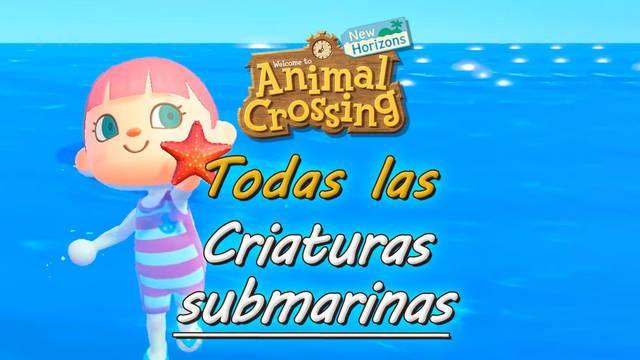 Criaturas submarinas en Animal Crossing New Horizons: precio y cómo conseguirlas