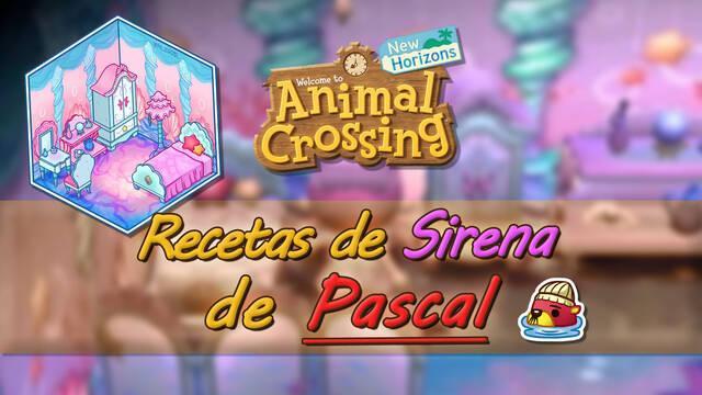 Todas las recetas de sirena de Pascal y requisitos en Animal Crossing New Horizons