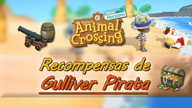 Gulliver Pirata y todas sus recompensas en Animal Crossing: New Horizons