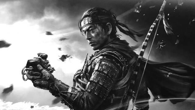 Ghost Of Tsushima modo blanco y negro Kurosawa