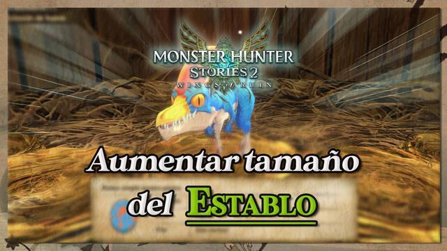 Cómo aumentar el tamaño del establo en Monster Hunter Stories 2