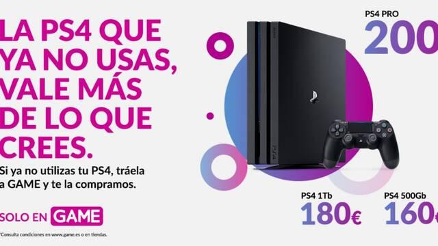 Lleva tu PS4 a GAME y consigue hasta 200 euros o packs de juegos y accesorios de PS5.