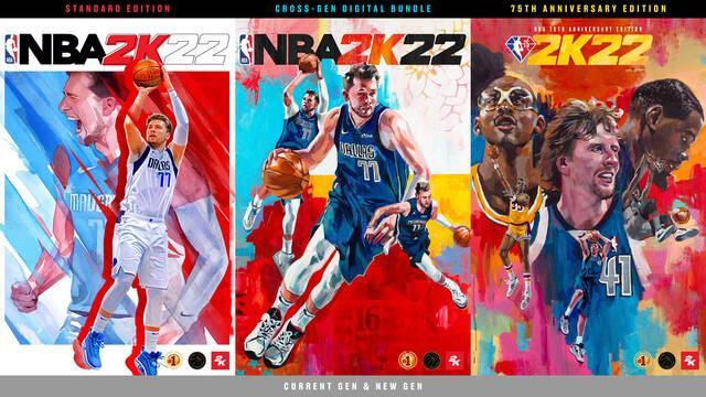 NBA 2K22 portadas fecha tráiler