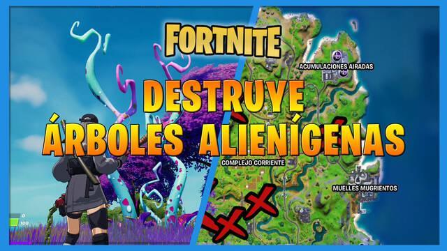Fortnite: cómo encontrar y destruir árboles alienígenas