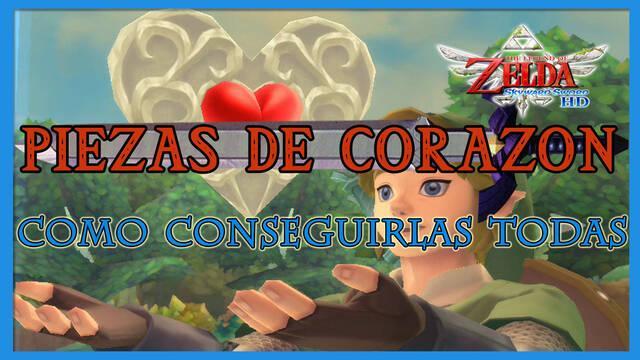 TODAS las piezas de corazón en The Legend of Zelda: Skyward Sword HD