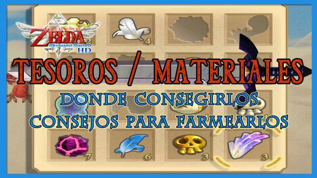Tesoros / materiales en The Legend of Zelda: Skyward Sword HD