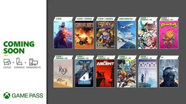 Xbox Game Pass Julio 2021