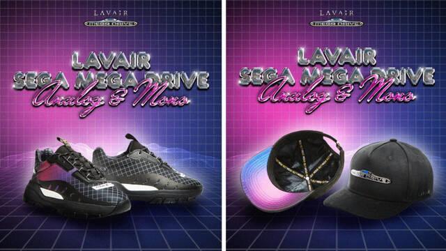 Presentadas las nostálgicas zapatillas y gorras inspiradas en el diseño de Sega Mega Drive