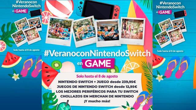 Ofertas GAME de Nintendo Switch de verano