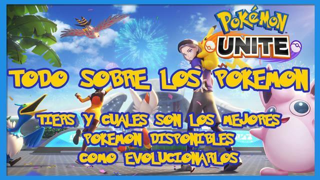 Pokémon Unite: TODOS los Pokémon disponibles, clases y características
