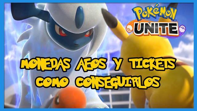 Pokémon Unite: Cómo conseguir monedas y tickets Aeos