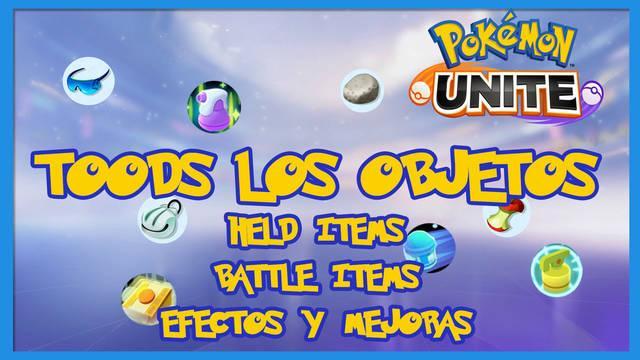 Pokémon Unite: TODOS los objetos Held Items y Battle Items y sus efectos