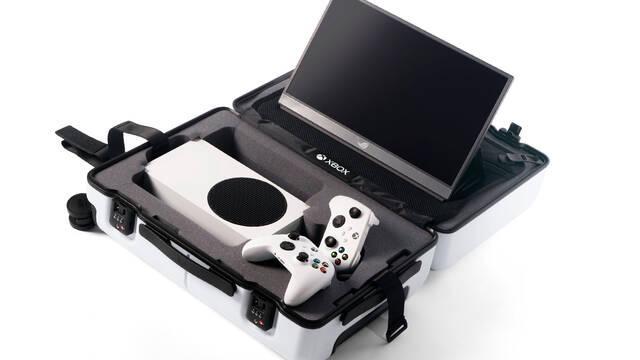 Xbox crea una maleta inspirada en Xbox Serie S.