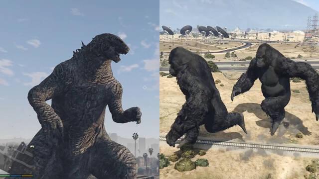 Ya están disponibles los divertidos mods para GTA 5 de King Kong y Godzilla