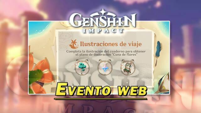 Genshin Impact: Protogemas gratis en el evento web Ilustraciones de viaje