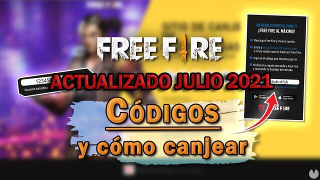 Free Fire: Todos los códigos de recompensas gratis (Julio 2021)