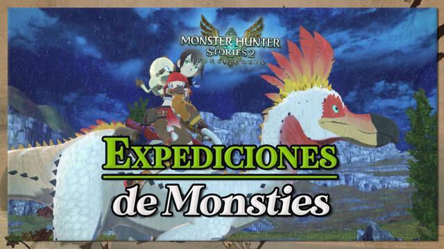 Cómo realizar expediciones de Monsties en Monster Hunter Stories 2 y cooperativas