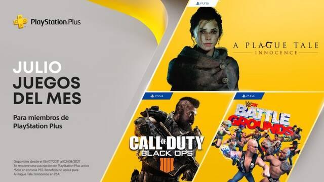 PlayStation Plus gratis PS5 PS4 julio