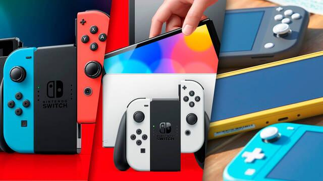 Nintendo Switch comparativa tres modelos