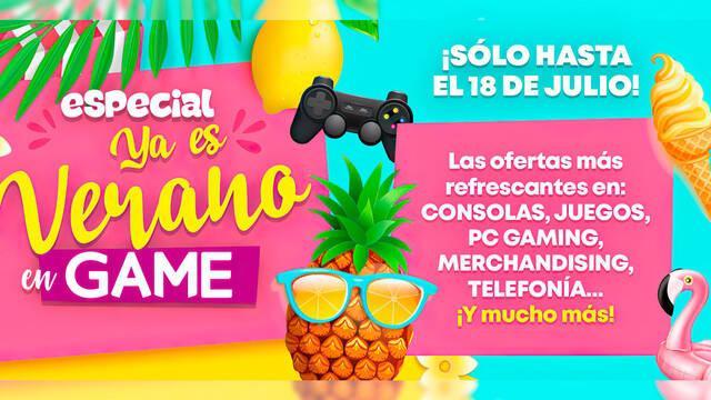 Ofertas GAME ya es verano 2021 juegos y consolas