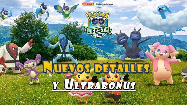 Pokémon GO Fest 2021, nuevos detalles y ultrabonus activos