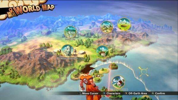 Dragon Ball Z: Kakarot ofrecerá siete grandes zonas a explorar