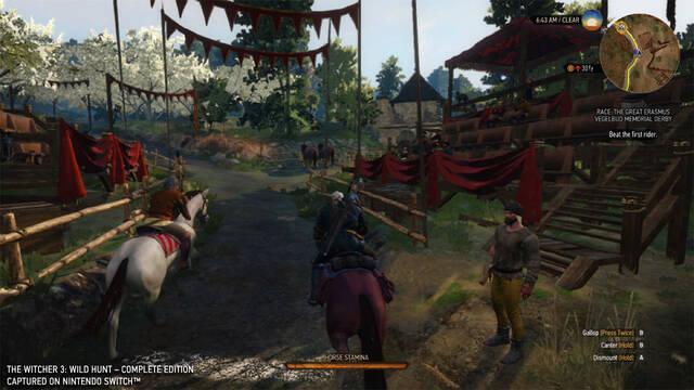 Comparan The Witcher 3 en Switch con la versión de PlayStation 4