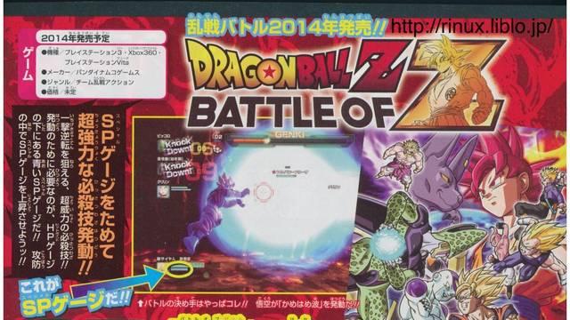 Se confirman nuevos luchadores para Dragon Ball Z: Battle of Z