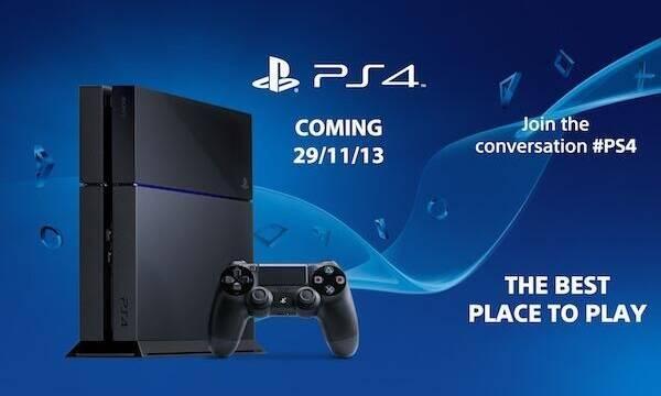 PlayStation 4 se lanza el 29 de noviembre en Europa; el 15 en Estados Unidos