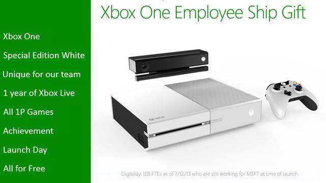Revelada una Xbox One blanca exclusiva para trabajadores de Microsoft