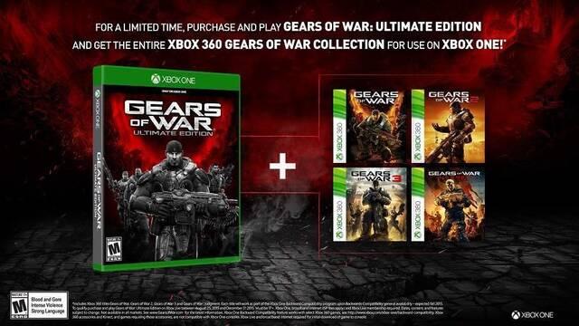 Quienes adquieran Gears of War: Ultimate Edition recibirán gratis todas las entregas de la saga