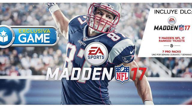GAME venderá una edición física de Madden NFL 17 en exclusiva para PlayStation 4