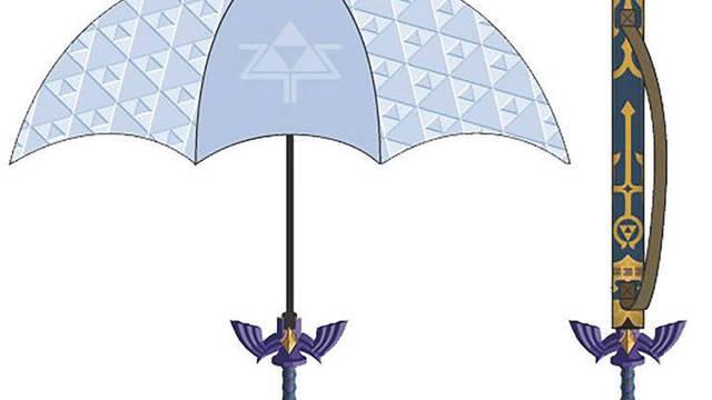 Así es el paraguas de Zelda con forma de Espada Maestra