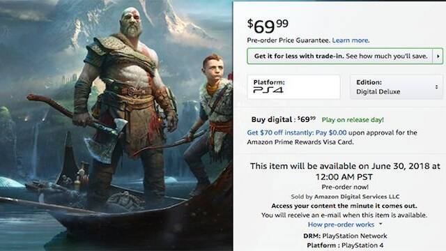 Aparece listada una edición Deluxe Digital de God Of War y su fecha