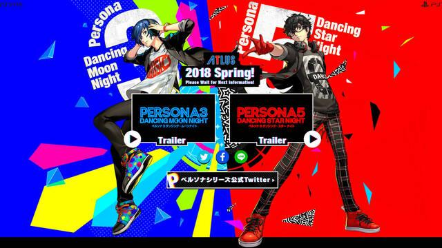 Anunciados P3 Dancing Moon Night y P5 Dancing Star Night para PS4 y PS Vita