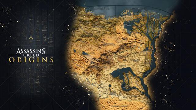 Assassin's Creed Origins presenta su mapa completo