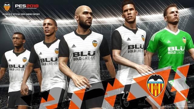 Pro Evolution Soccer 2018 firma un acuerdo con el Valencia C.F.