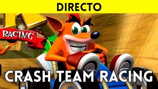 Jugamos al clásico Crash Team Racing de PS1 en directo a las 19:00