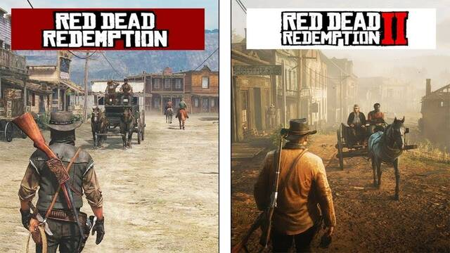 Un vídeo compara los gráficos de Red Dead Redemption 2 con el original