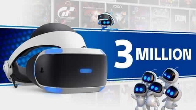 PlayStation VR vende más de tres millones de unidades