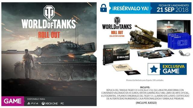 GAME venderá en exclusiva la edición coleccionista de World of Tanks