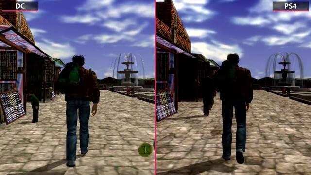 Comparan los gráficos de Shenmue I & II con los originales