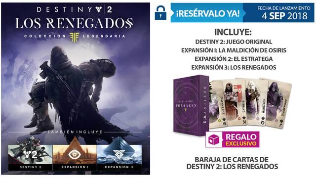 GAME detalla su incentivo de reserva de Destiny 2: La Colección Legendaria