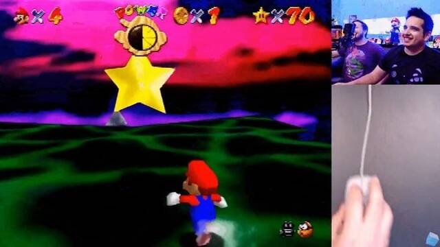 Completa Super Mario 64... haciendo uso del ratón de N64